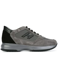 Hogan Logo Patch Sneakers Grey