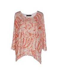 Antik Batik Topwear T Shirts Women Red