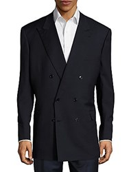 Brioni Double Breasted Wool Jacket Dark Navy