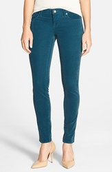Petite Women's Kut From The Kloth 'Diana' Stretch Corduroy Skinny Pants Mosaic Blue