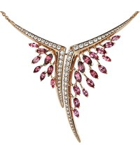 Shaun Leane Aerial 18Ct Rose Gold Pink Tourmaline And White Diamond Necklace