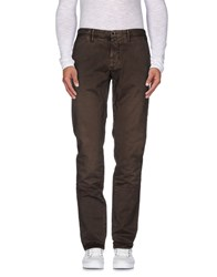 Incotex Red Trousers Casual Trousers Men Cocoa
