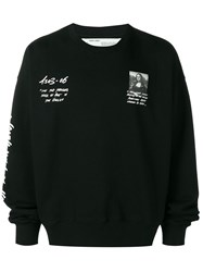 Off White Mona Lisa Print Sweatshirt Black