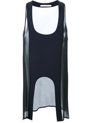 Dion Lee Sheer Panel Tank Top Blue