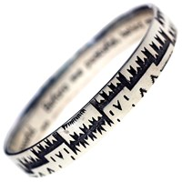 House Of Alaia All Around Me Peaceful Navajo Bangle Oxidized Sterling Silver