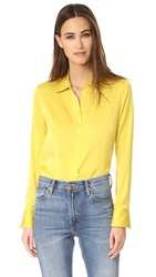 Vince Slim Fitted Blouse Cactus