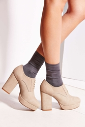 Tba To Be Announced Braelyn Suede Lace Up Oxford Taupe