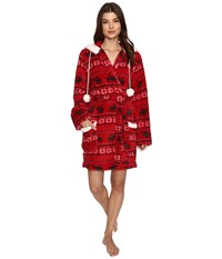 Pj Salvage Cozy Fair Isle Robe Brick Women's Robe Red