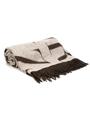 Assouline 'Didot' Scarf Cashmere Lambs Wool Brown