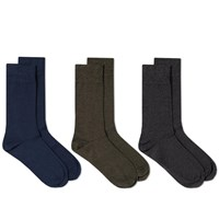 Schiesser Fred Sock 3 Pack Blue