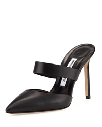 Manolo Blahnik Trovina Leather Point Toe Mule