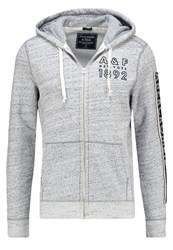 Abercrombie And Fitch Muscle Fit Tracksuit Top Heather Grey
