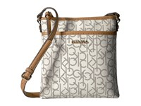 Calvin Klein Monogram Crossbody Almond Khaki Cashew Cross Body Handbags Gray