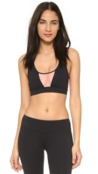 Minkpink Five Mile Crop Top Black Neon