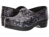 Sanita Original Professional Priscilla Black Purple Women's Clog Shoes Multi