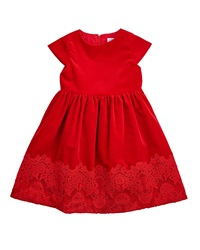 Florence Eiseman Lace Trim A Line Dress Red Size 5 6