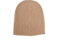 Alex Mill Men's Chunky Rib Knit Cashmere Beanie Tan