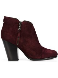 Rag And Bone Zip Up Ankle Boots Pink And Purple