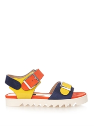 Chrissie Morris Ida Colour Block Leather Sandals