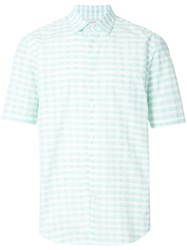 Cerruti 1881 Short Sleeve Checked Shirt Green