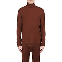 Balenciaga Men's Lightweight Long Sleeve Turtleneck Brown Red Brown Red