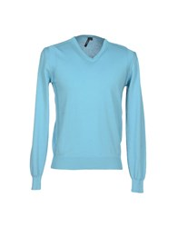 A Deep Knitwear Jumpers Men Turquoise