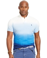 Polo Ralph Lauren Big And Tall Classic Fit Dip Dyed Polo Shirt Cruise Royal Multi