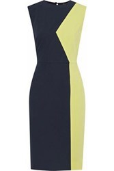 Raoul Bonnie Two Tone Crepe Dress Charcoal