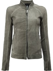 Isaac Sellam Experience High Neck Zipped Jacket Grey