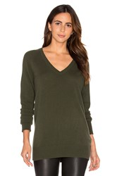 Equipment Asher V Neck Sweater Army