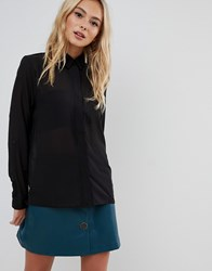 Urban Bliss Blouse With Sheer Cut Out Black