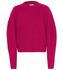 Chloe Ribbed Wool And Cashmere Sweater Red