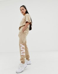 Ivy Park Layer Logo Joggers In Beige
