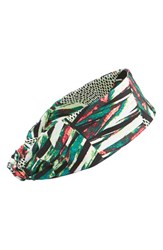 Zella 'New You' Headband Green Green Ice Luminescene Print