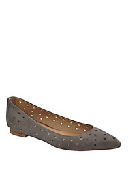 Corso Como Gabrielle Perforated Leather Flats Grey