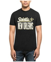 47 Brand '47 Men's New Orleans Saints Script Club T Shirt Heather Black