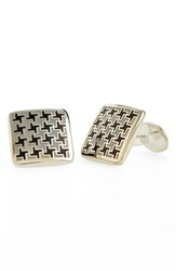 Men's David Donahue Enamel Cuff Links