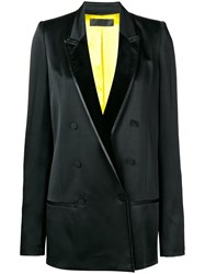 Haider Ackermann Tuxedo Double Breasted Blazer Black