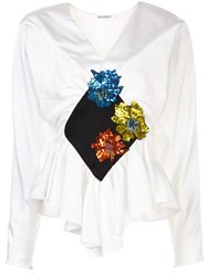 Rodarte Embroidered Ruffled Blouse 60