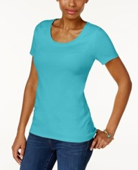 Charter Club Cotton Scoop Neck T Shirt Only At Macy's Clear Coast