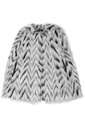 Michael Michael Kors Herringbone Faux Fur Cape