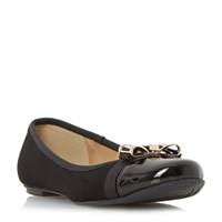 Head Over Heels Hadisia Toe Cap Ballet Pumps Black
