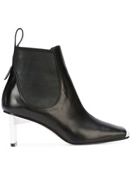 Loewe Square Toe Ankle Boots Black