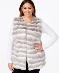 Alfani Plus Size Long Faux Fur Vest Only At Macy's Grey