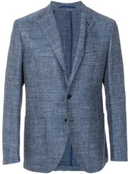 Cantarelli Fitted Casual Jacket Blue