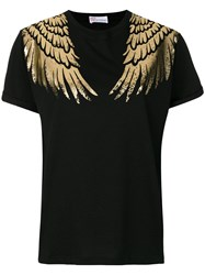 Red Valentino Printed Wing T Shirt Black