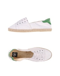B Sided Espadrilles White