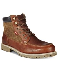Levi's Men's Spencer Quilted Boots Men's Shoes Brown