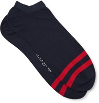 Corgi Striped Cotton Blend Socks Midnight Blue