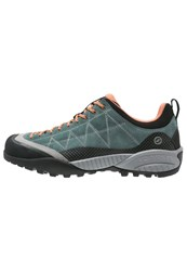 Scarpa Zen Pro Walking Shoes Nile Blue Salmon Dark Green